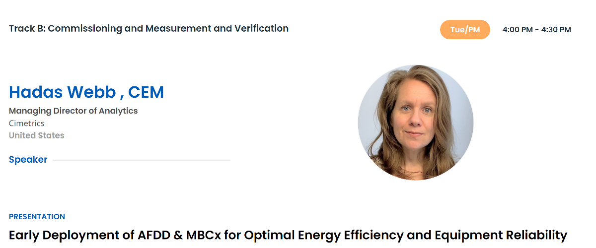 AEE Virtual Conference - Commissioning and Measurement and Verification